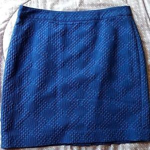 Banana Republic Skirt. Deep Blue. NWOT